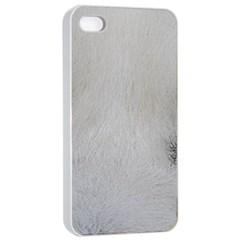 Akita Inu White Eyes Apple iPhone 4/4s Seamless Case (White)