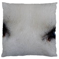 Akita Inu White Eyes Large Cushion Case (One Side)