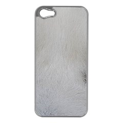 Akita Inu White Eyes Apple iPhone 5 Case (Silver)