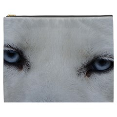 Akita Inu White Eyes Cosmetic Bag (XXXL)