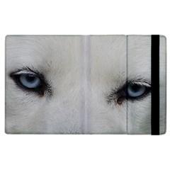 Akita Inu White Eyes Apple iPad 3/4 Flip Case