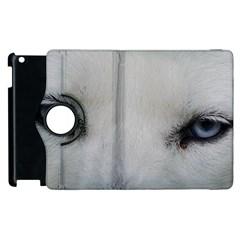 Akita Inu White Eyes Apple iPad 3/4 Flip 360 Case