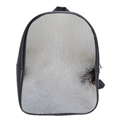 Akita Inu White Eyes School Bags (XL)