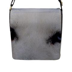 Akita Inu White Eyes Flap Messenger Bag (L)