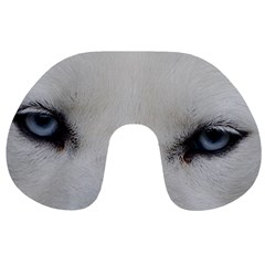 Akita Inu White Eyes Travel Neck Pillows
