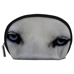 Akita Inu White Eyes Accessory Pouches (Large)
