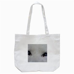 Akita Inu White Eyes Tote Bag (White)