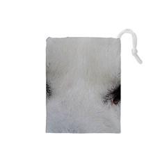 Akita Inu White Eyes Drawstring Pouches (Small)
