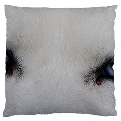 Akita Inu White Eyes Large Flano Cushion Case (One Side)