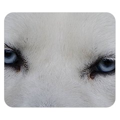 Akita Inu White Eyes Double Sided Flano Blanket (Small)