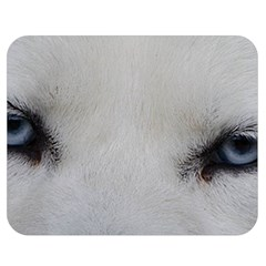 Akita Inu White Eyes Double Sided Flano Blanket (Medium)