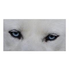 Akita Inu White Eyes Satin Shawl