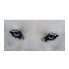 Akita Inu White Eyes Satin Wrap