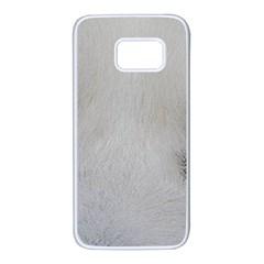 Akita Inu White Eyes Samsung Galaxy S7 White Seamless Case