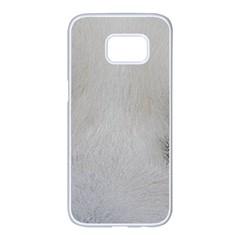 Akita Inu White Eyes Samsung Galaxy S7 edge White Seamless Case