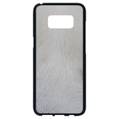 Akita Inu White Eyes Samsung Galaxy S8 Black Seamless Case