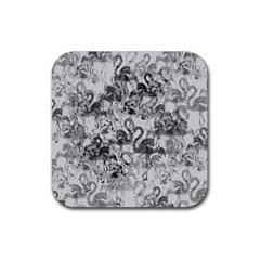 Flamingo pattern Rubber Coaster (Square)