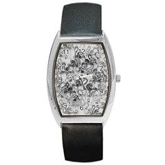 Flamingo pattern Barrel Style Metal Watch