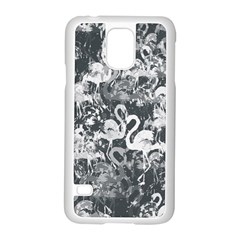 Flamingo pattern Samsung Galaxy S5 Case (White)