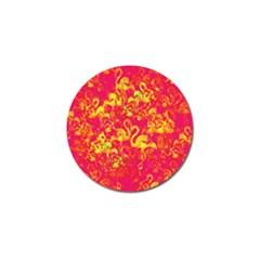 Flamingo pattern Golf Ball Marker (10 pack)