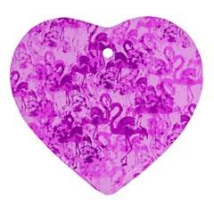 Flamingo pattern Ornament (Heart)