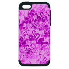 Flamingo pattern Apple iPhone 5 Hardshell Case (PC+Silicone)