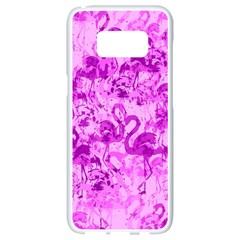 Flamingo Pattern Samsung Galaxy S8 White Seamless Case