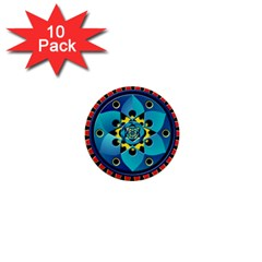 Abstract Mechanical Object 1  Mini Buttons (10 pack)