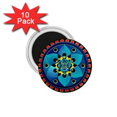Abstract Mechanical Object 1 75  Magnets (10 Pack)