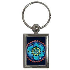 Abstract Mechanical Object Key Chains (rectangle)