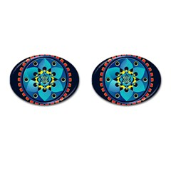 Abstract Mechanical Object Cufflinks (oval)