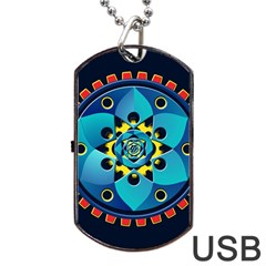 Abstract Mechanical Object Dog Tag Usb Flash (two Sides)