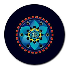 Abstract Mechanical Object Round Mousepads