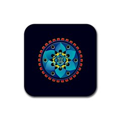 Abstract Mechanical Object Rubber Coaster (square)