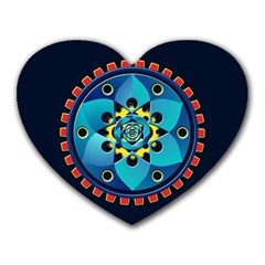 Abstract Mechanical Object Heart Mousepads