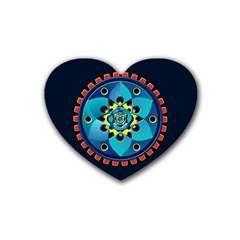 Abstract Mechanical Object Heart Coaster (4 Pack)