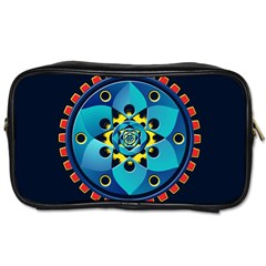 Abstract Mechanical Object Toiletries Bags