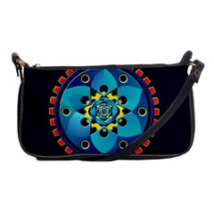 Abstract Mechanical Object Shoulder Clutch Bags