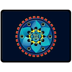 Abstract Mechanical Object Double Sided Fleece Blanket (large)