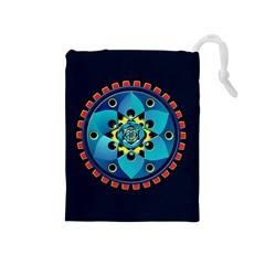 Abstract Mechanical Object Drawstring Pouches (medium)