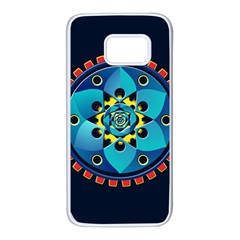 Abstract Mechanical Object Samsung Galaxy S7 White Seamless Case