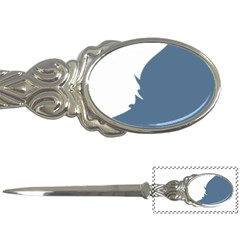 Blue White Hill Letter Openers