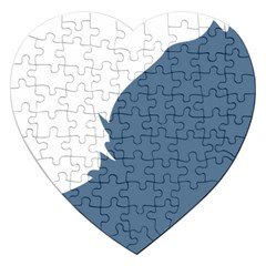 Blue White Hill Jigsaw Puzzle (Heart)