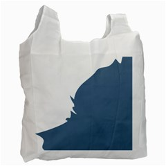 Blue White Hill Recycle Bag (one Side)