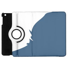 Blue White Hill Apple Ipad Mini Flip 360 Case