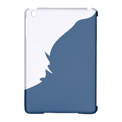 Blue White Hill Apple iPad Mini Hardshell Case (Compatible with Smart Cover)