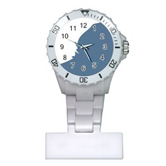 Blue White Hill Plastic Nurses Watch
