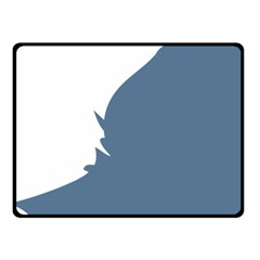 Blue White Hill Double Sided Fleece Blanket (Small)
