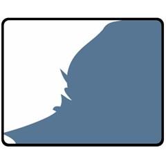 Blue White Hill Double Sided Fleece Blanket (Medium)