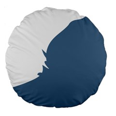 Blue White Hill Large 18  Premium Flano Round Cushions